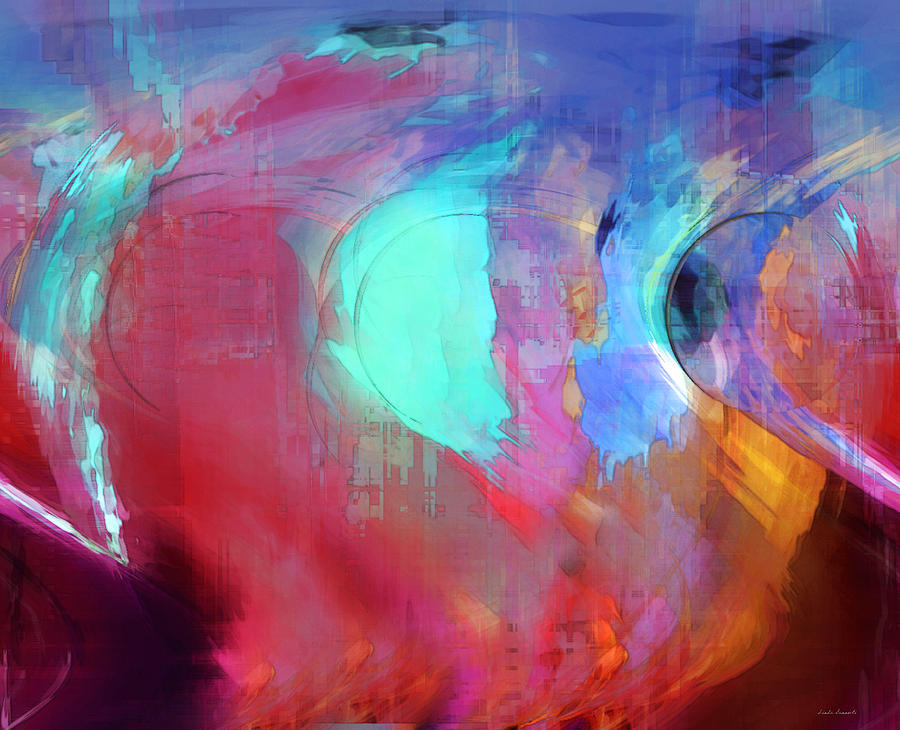 Abstract Digital Art - The Afterglow by Linda Sannuti