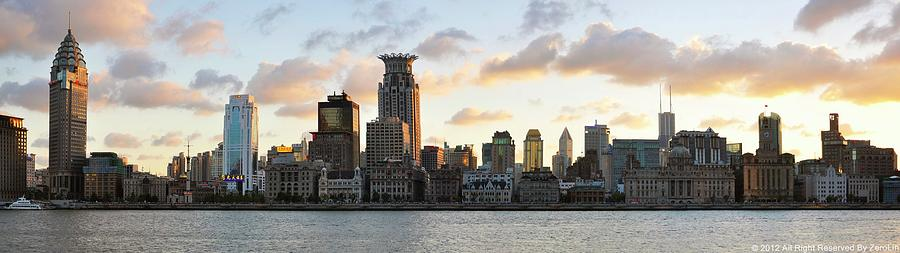 The Afternoon Of The Bund Buildings Photograph by Fine