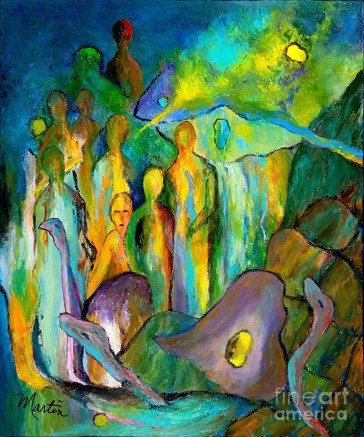 Aquarius Painting - The Age Of Aquarius by Larry Martin