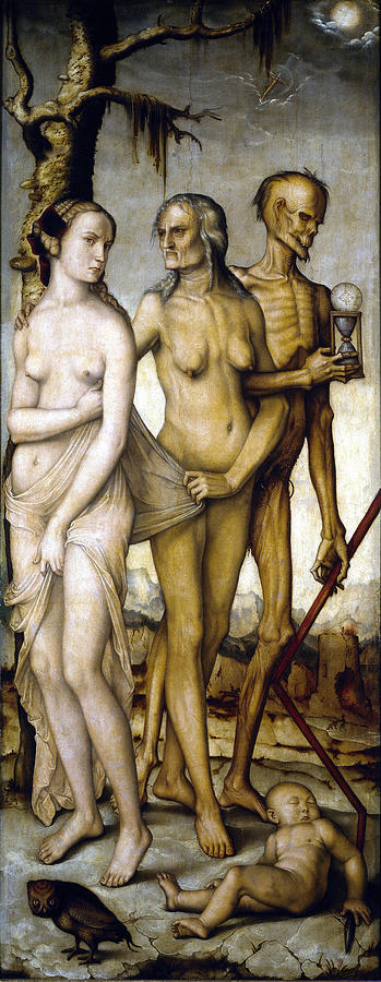 Hans Baldung Digital Art - The Ages Of Man And Death by Hans Baldung