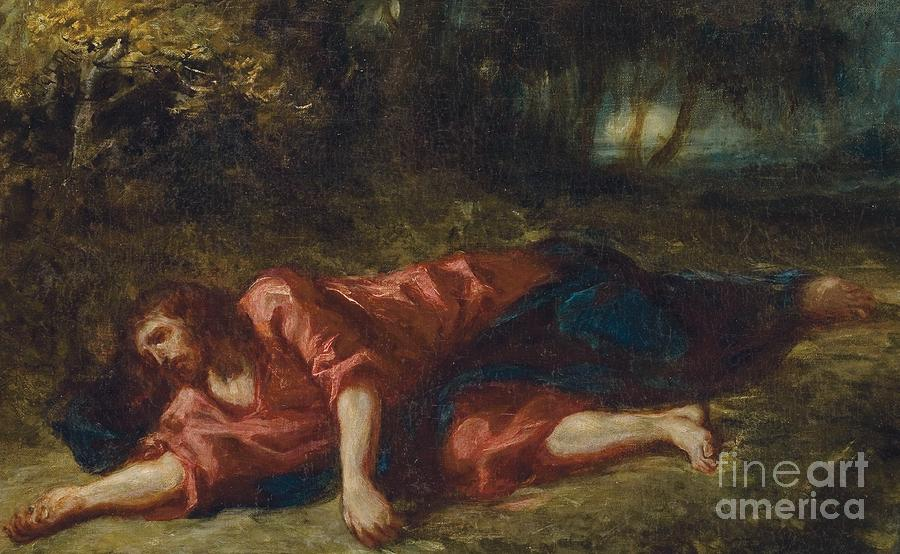 Lord Painting - The Agony In The Garden by Ferdinand Victor Eugene Delacroix