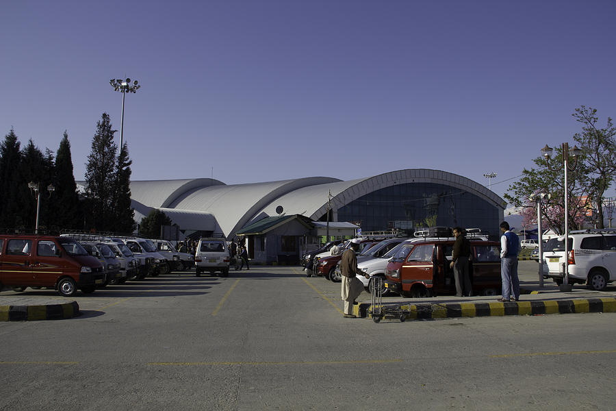 Airport Photograph - The Airport In Srinagar The Capital Of Jammu And Kashmir by Ashish Agarwal