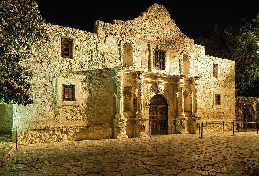 The Alamo  San Antonio Texas, In Golden Photograph by Dszc