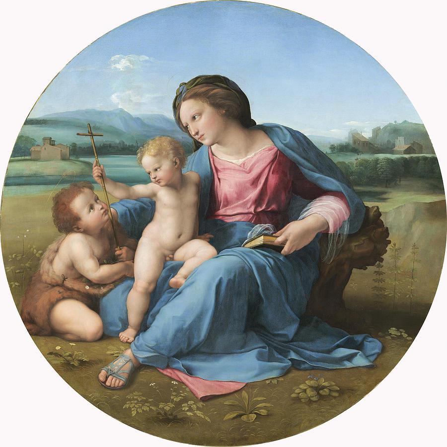 The Painting - The Alba Madonna by Raffaello Sanzio of Urbino