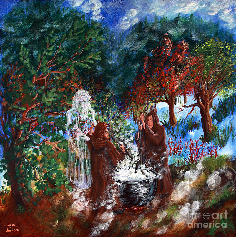 Spiritual Painting - The Alchemists by Joyce Jackson