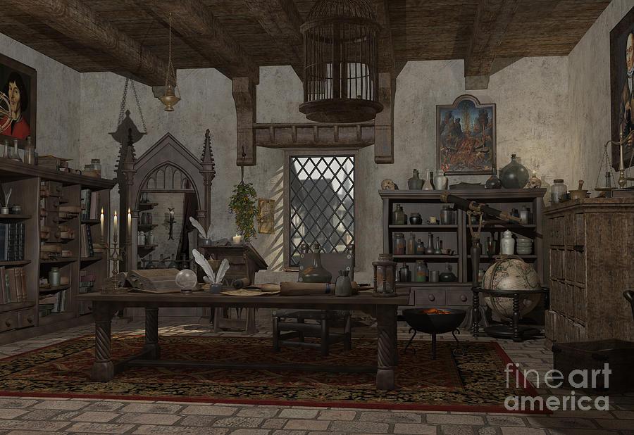 The Alchemist S Study Digital Art By Fairy Fantasies