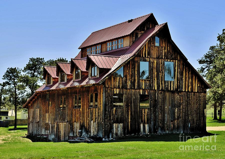 Evergreen Photograph - The Aldefer Barn by Leianne Wilson