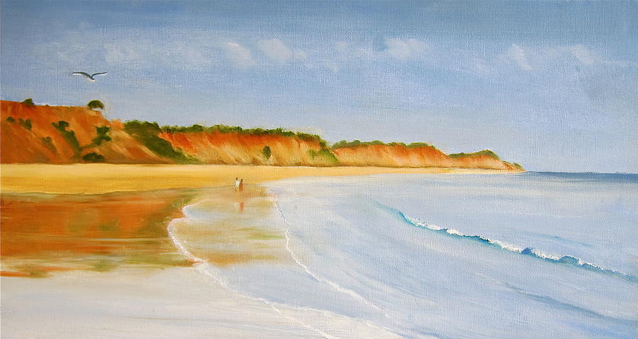 Seascape Painting - The Algarve by Heather Matthews