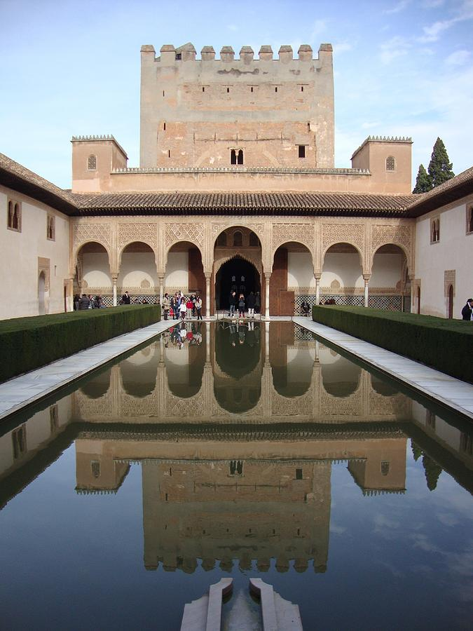 Granada Photograph - The Alhambra Palace Reflecting Pool 2 by David  Ortiz