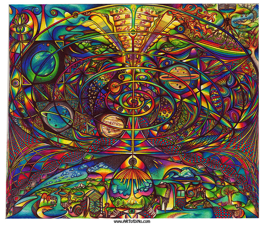 Mandala Drawing - the Alignment by diNo