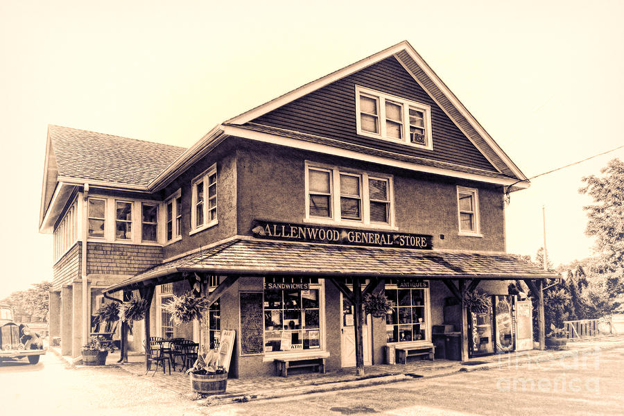 Antique Photograph - The Allenwood General Store by Olivier Le Queinec