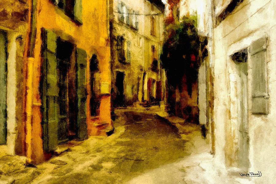 Alley Painting - The Alley by Wayne Pascall