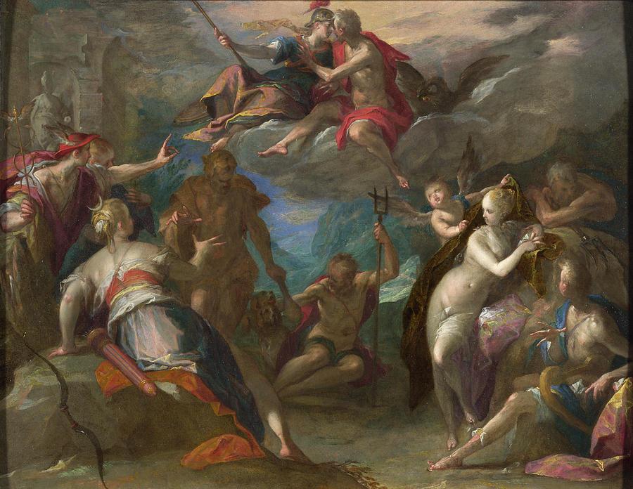 Hans Von Aachen Painting - The Amazement Of The Gods by Hans von Aachen