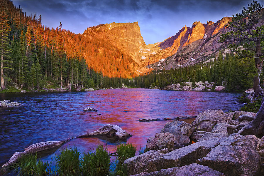 Dream Lake Photograph - The American Dream by Evan Ludes
