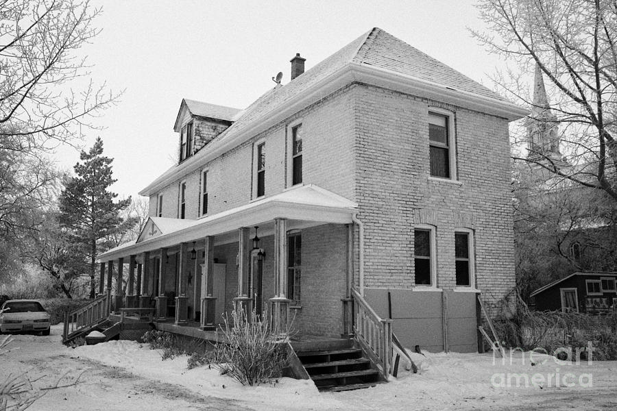Ananda Photograph - the ananda arthouse in the former st josephs rectory in Forget Saskatchewan Canada by Joe Fox