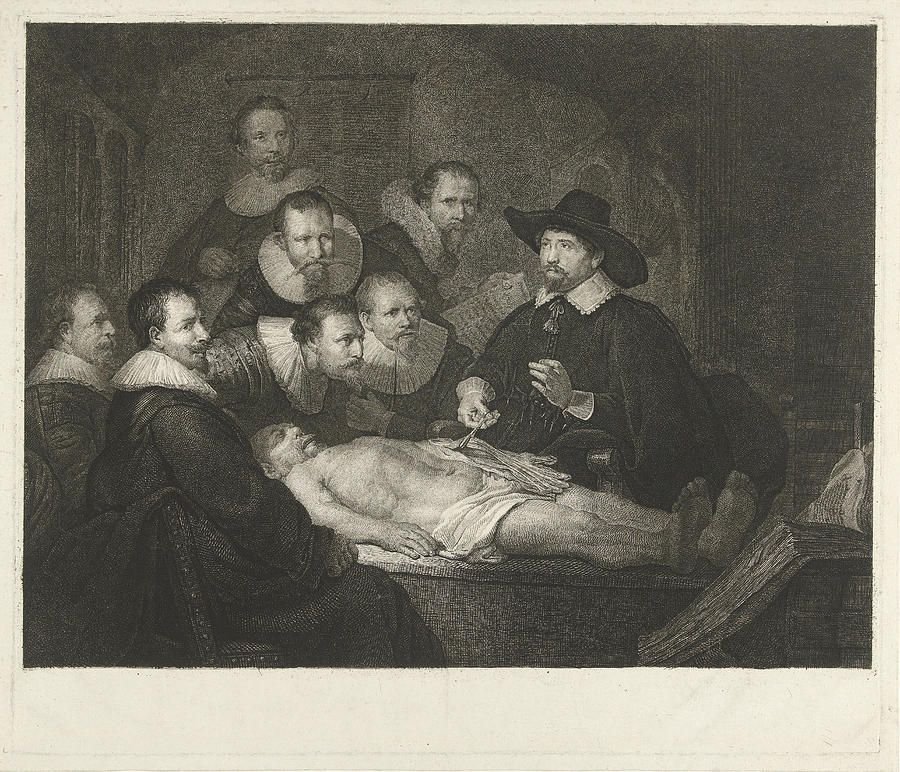 The Anatomy Lesson Of Dr Nicolaes Tulp Johannes Pieter De Drawing