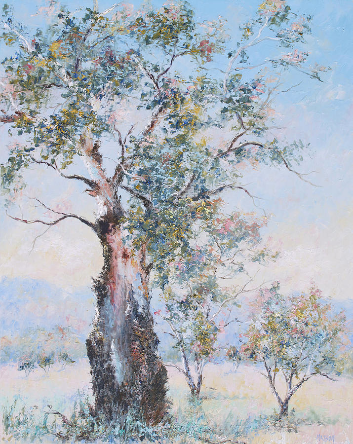 Landscape Painting - The Ancient Gum Tree by Jan Matson