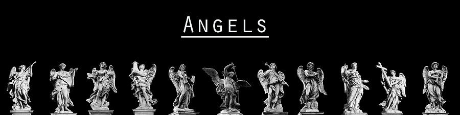 Rome Photograph - The Angels Of Rome by Fabrizio Troiani