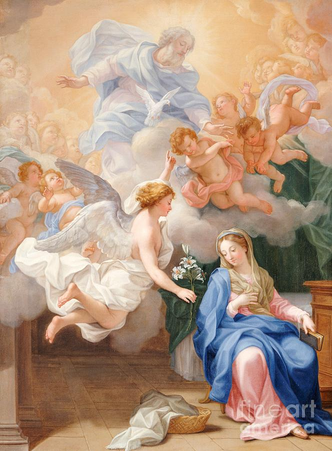 Century Painting - The Annunciation by Giovanni Odazzi