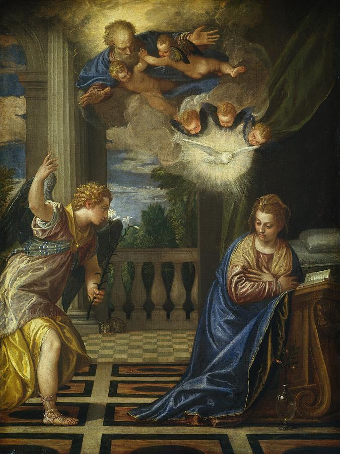 Cinquecento Painting - The Annunciation by Paolo Veronese