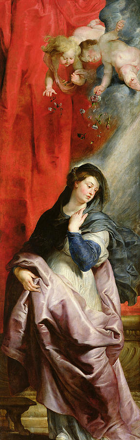 The Annunciation Painting - The Annunciation by Peter Paul Rubens