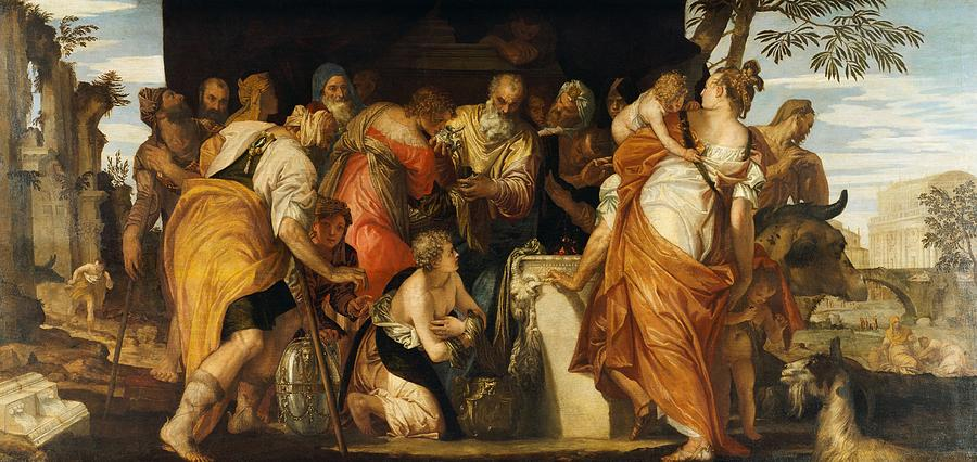 1555 Painting - The Anointment Of David by Paolo Veronese