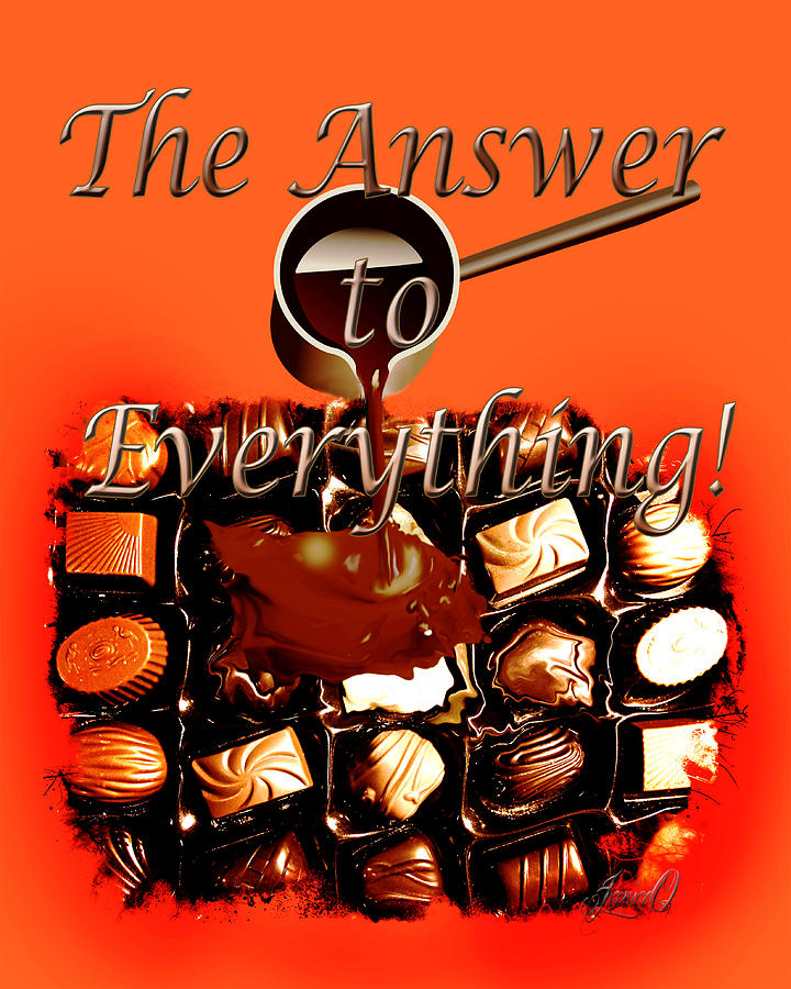 Answer Digital Art - The Answer by Janice OConnor