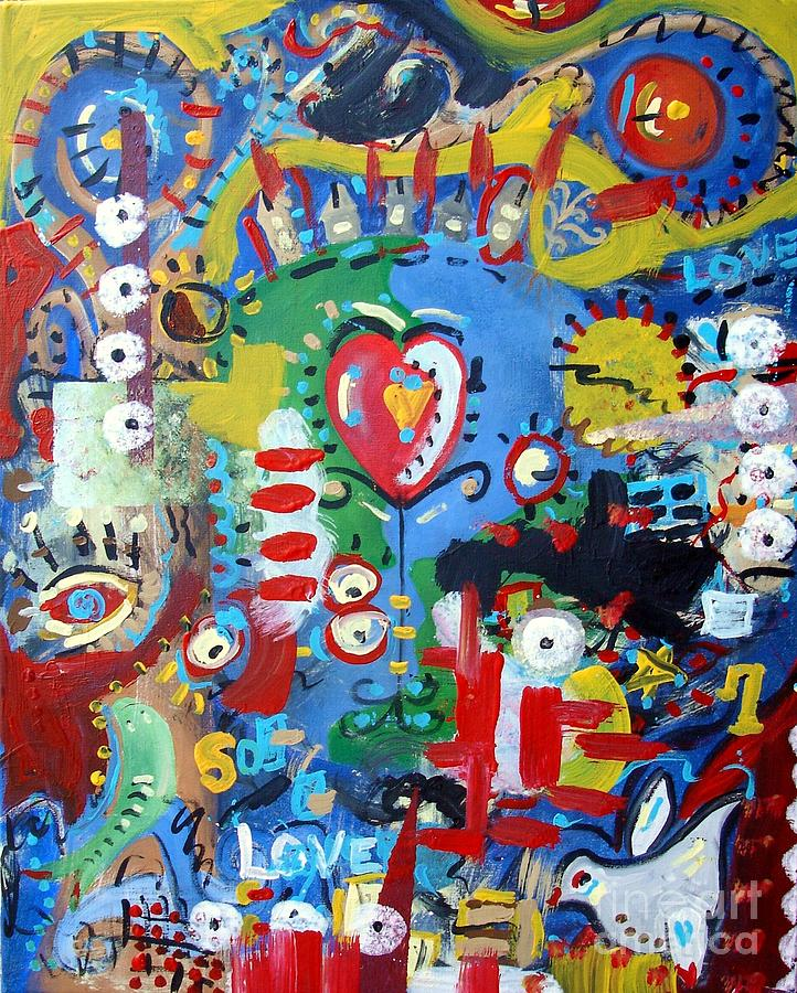 Abstract Painting - The Answer by Venus