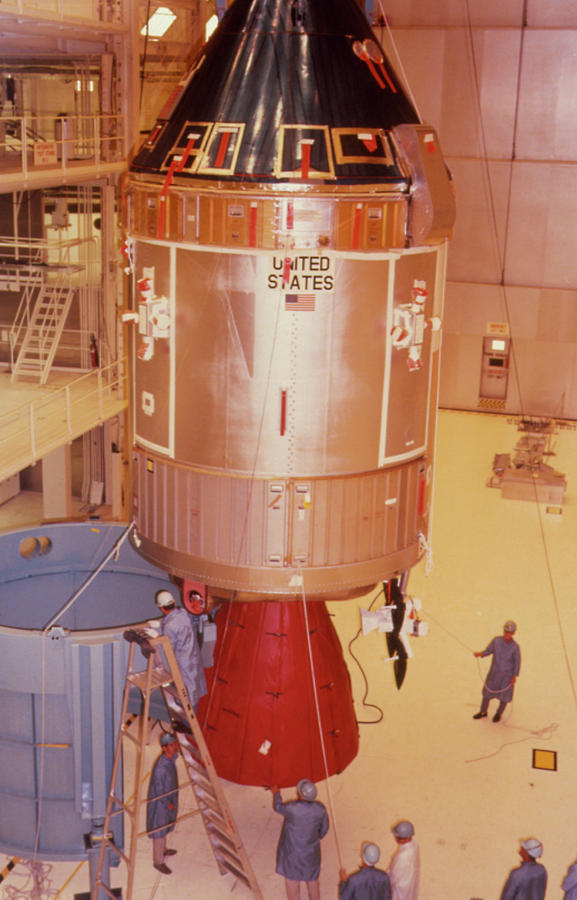 Apollo 11 Photograph - The Apollo 11 Spacecraft Being Prepared For Launch by Nasa/science Photo Library