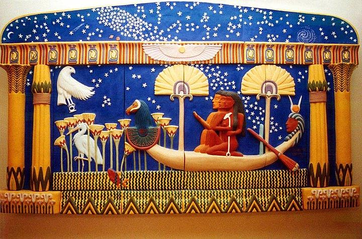 Egyptian Ceramic Art - The Apparition  by Charles Lucas