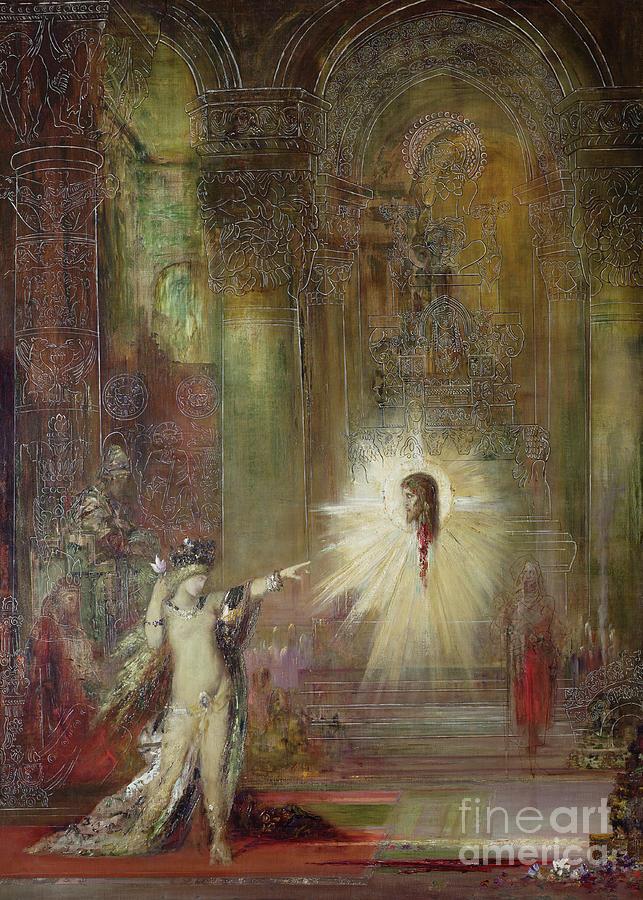Salome; Dance Of Seven Veils; John Baptist; Beheaded; Symbolist; Gothic Interior; Herod; L'apparition; Appearing; Head; Symbolist; Symbolism Painting - The Apparition by Gustave Moreau