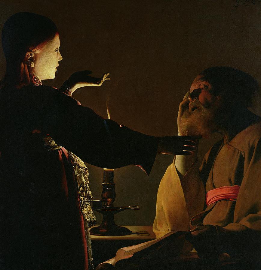 Tour Painting - The Appearance Of The Angel To Saint Joseph by Georges de la Tour