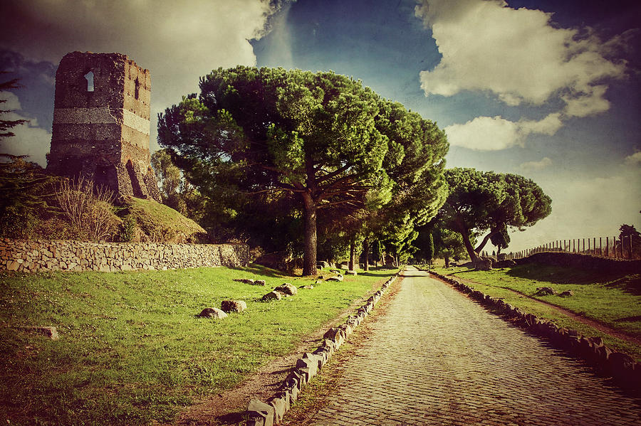 The Appian Way In Rome, Or Via Appia Photograph by Piola666