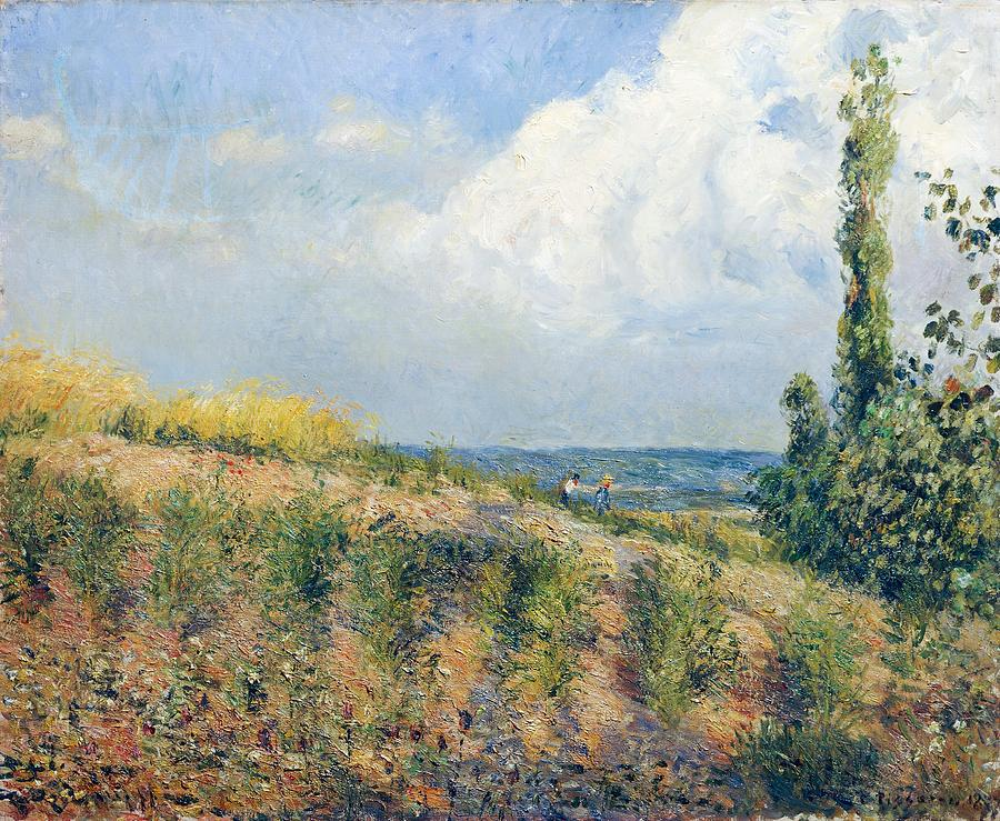 Painting Painting - The Approaching Storm by Camille Pissarro