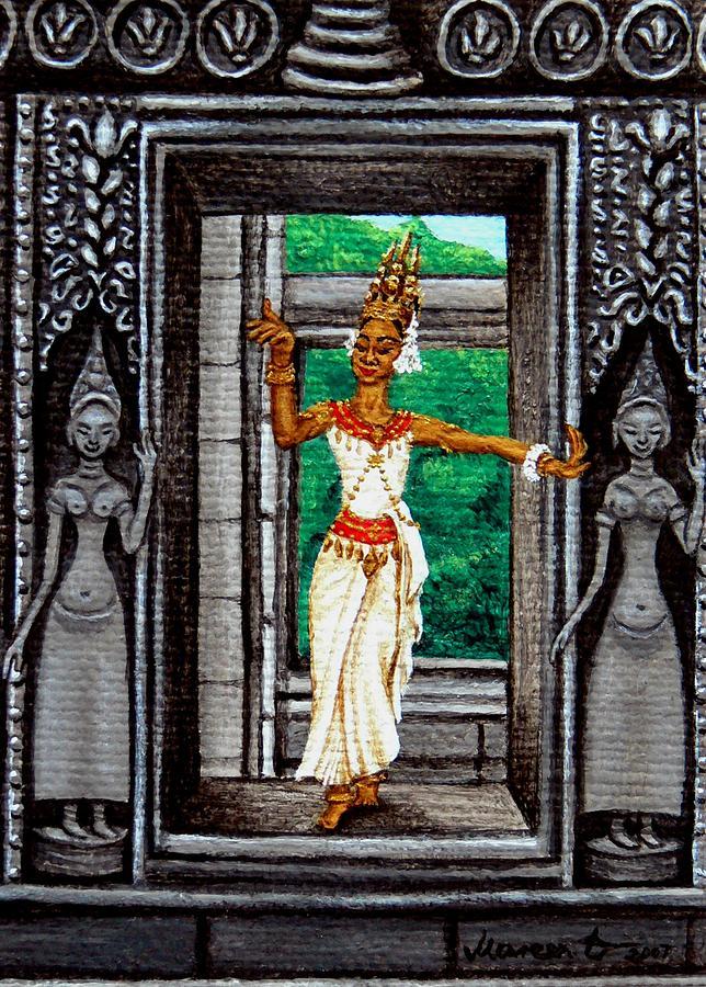 The Apsara Dancer Painting by Mareen Haschke