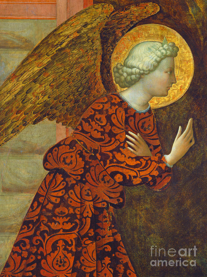 Angel Painting - The Archangel Gabriel by Tommaso Masolino da Panicale