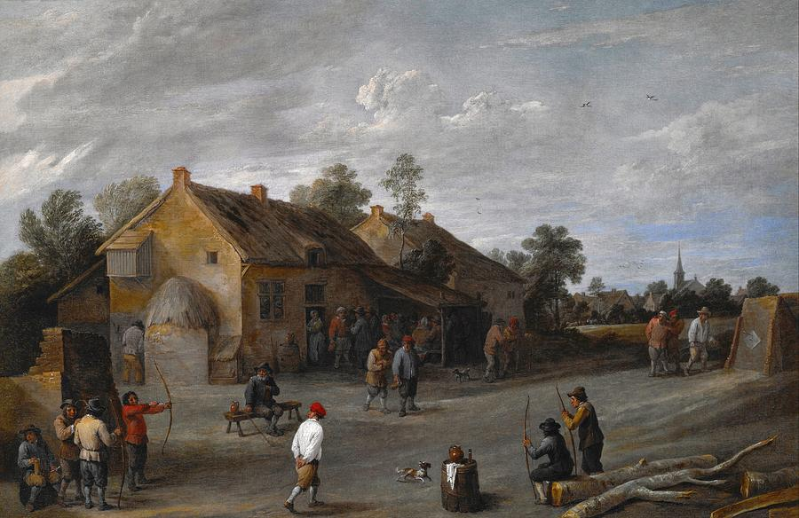 1640 Painting - The Archers by David Teniers the Younger