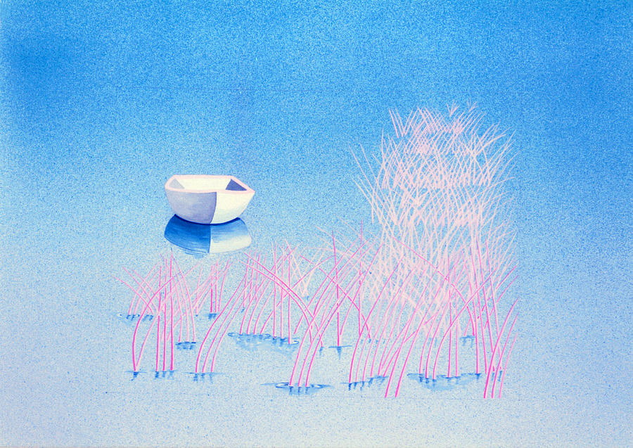 Blue Painting - The Arrival by Daniele Zambardi
