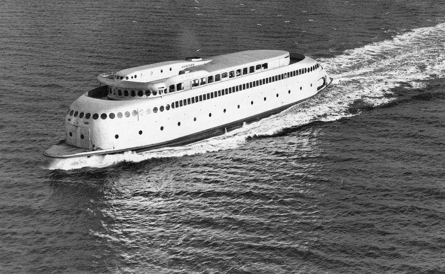 1930's Photograph - The Art Deco Ferry Kalakala by Underwood Archives