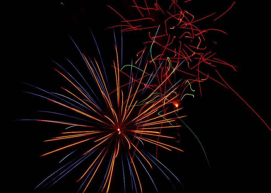 July 4th Photograph - The Art Of Fireworks  by Saija  Lehtonen