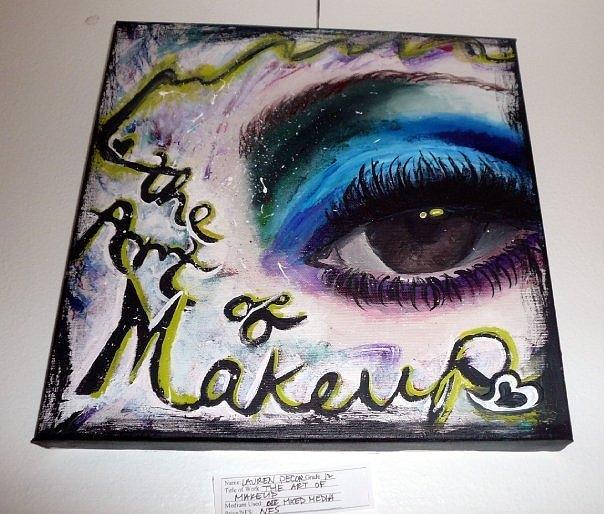 The Art Of Makeup Painting by Lauren  Pecor