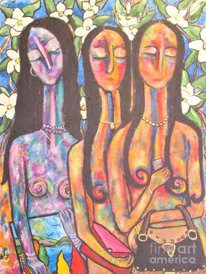 Women Painting - The Art Show by Chaline Ouellet