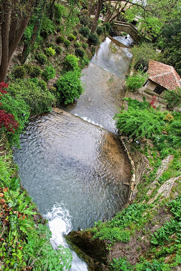 Balchik Photograph - The Artificial River From Balchik Botanical Garden by Cristina-Velina Ion