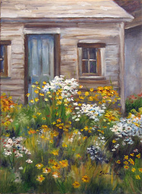 Architecture Painting - The Artist by Barbara Seibel