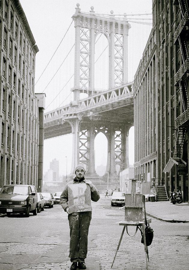 Artist Photograph - The Artist In New York by Shaun Higson