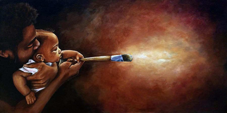 Painter Painting - The Artist by Ka-Son Reeves