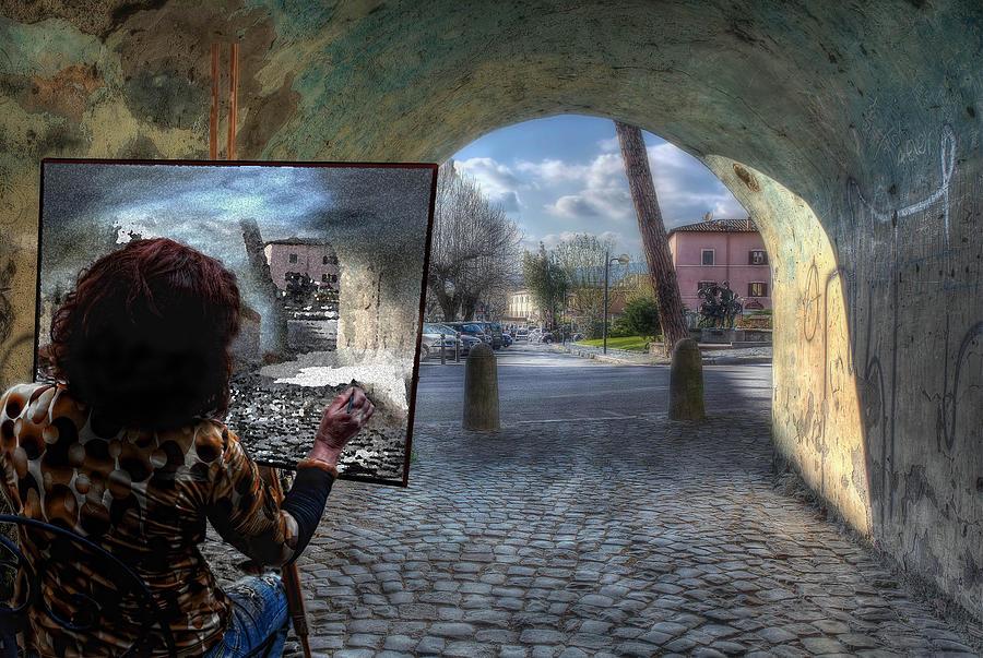 Tunnel Photograph - The Artist by Leonardo Marangi