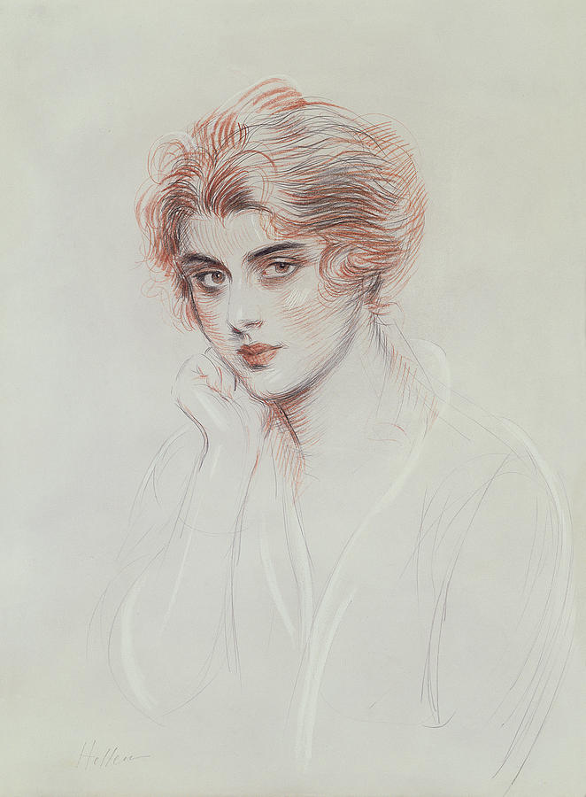 Century Drawing - The Artists Daughter by Paul Cesar Helleu