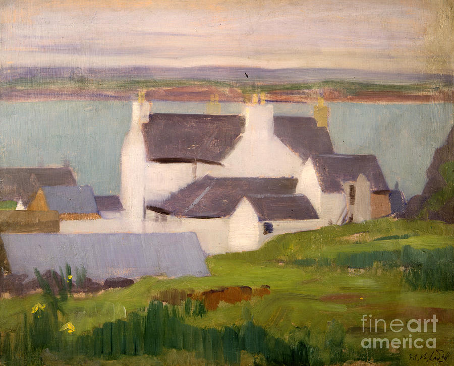 Cadell Painting - The Artists Studio Iona by Francis Campbell Boileau Cadell