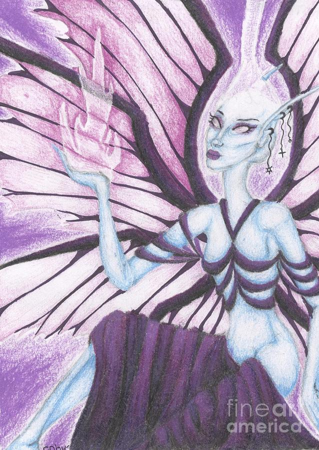 Piercings Drawing - The Ascendant by Coriander  Shea